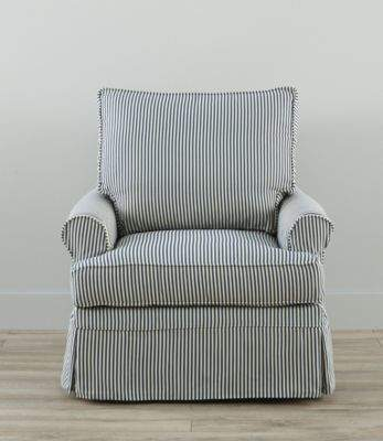 L L Bean L L Bean Slipcovered Swivel Glider Classic Stripe Striped Upholstered Chair Cheap Home Decor Slipcovers