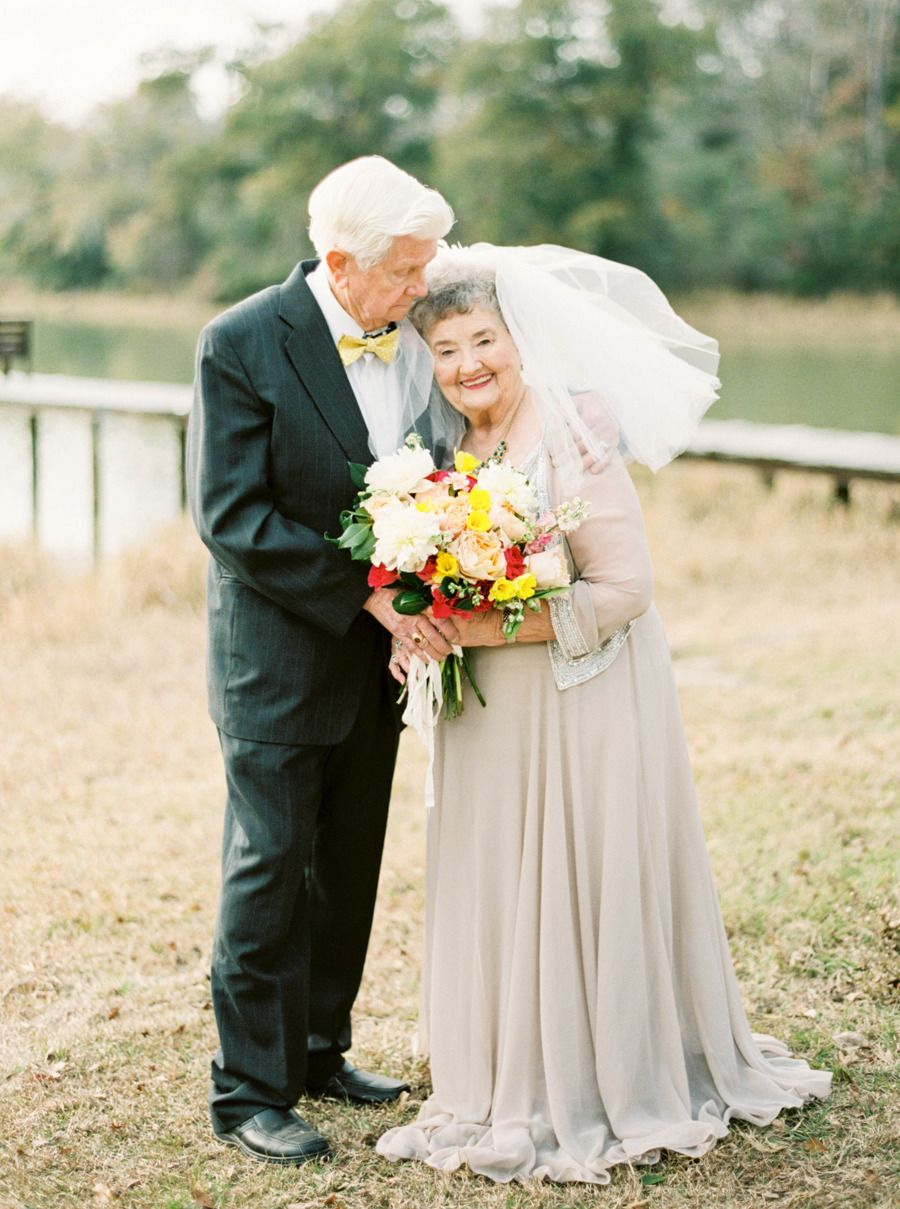 Mature folks making love A Love Story 63 Years In The Making Older Bride Happy Old People Old Couples