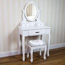 bedroom dressing table set stool drawer vanity mirror makeup desk rh pinterest com Wooden Dressing Table bedroom furniture set dressing table