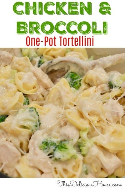 Chicken and Broccoli Tortellini is part of Recipes - One pot weeknight dinner! You're going to love this easy to make cheesy Chicken and Broccoli Tortellini