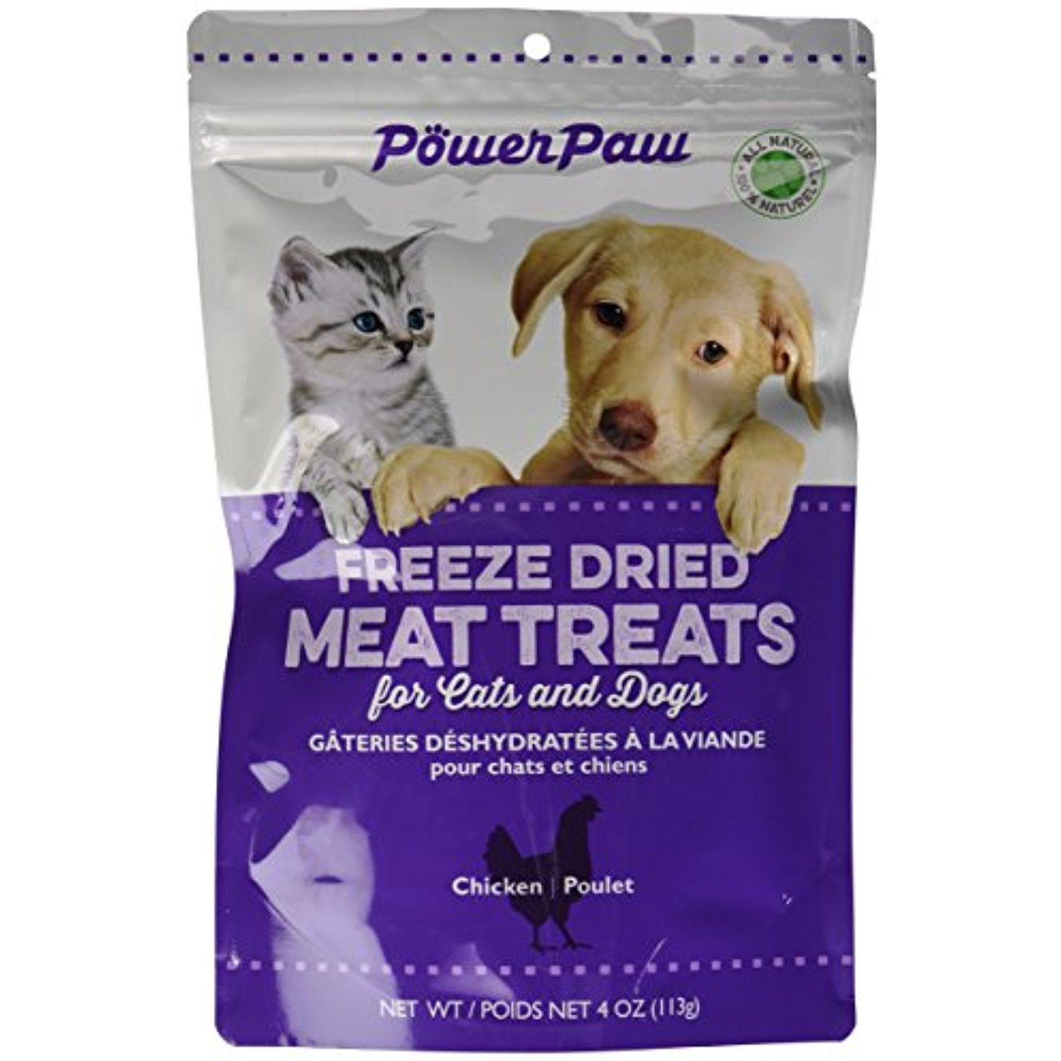 Power Paw Products Freeze Dried Chicken Piece, 4Ounce/10