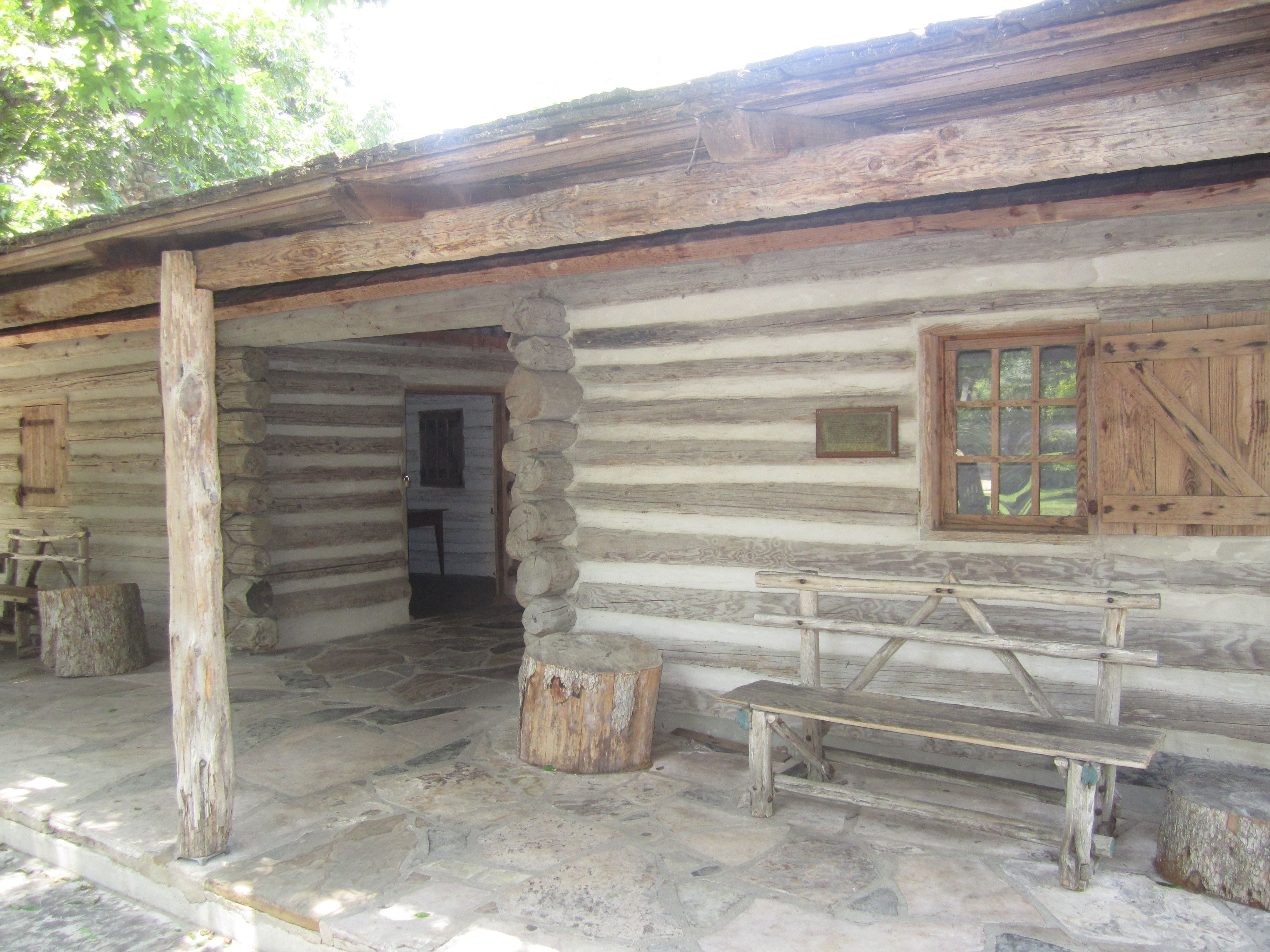 Dog Trot Cabin | Description Dogtrot Log Cabin At Witte, San Antonio, TX IMG