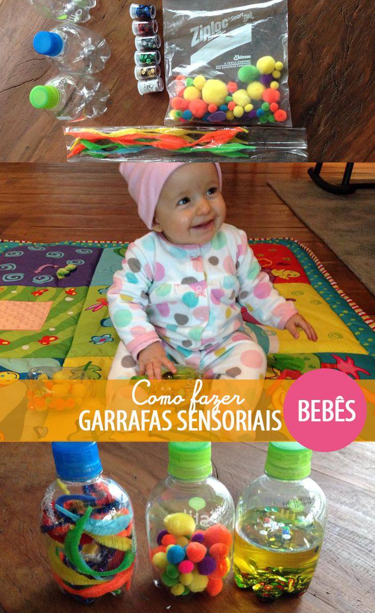 Atividade Para Bebes De 6 A 12 Meses Garrafas Sensoriais Blocos