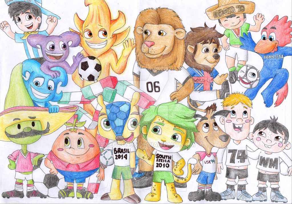 All World Cup Mascots By Diegio1996 On Deviantart Mascot World Cup Africa