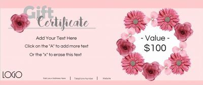 Gift Voucher Template Free Download Gift Certificate Templateall Text Can Be Customizeda Business .