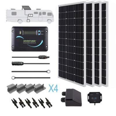 Renogy 400 Watt 12 Volt Monocrystalline Solar Rv Kit For Off Grid Solar System Solar Energy Panels Solar Power Panels Solar Technology