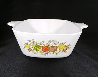 Corning Ware Wildflower A-1-B and A-2-B Casserole Dishes With Lids #dishware