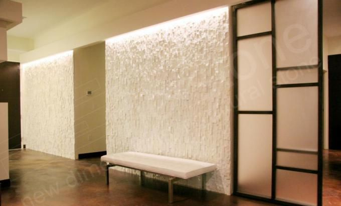Light The Rock From Above White Quartz Stacked Stone Veneer For Feature  Walls Gallery | Norstone USA
