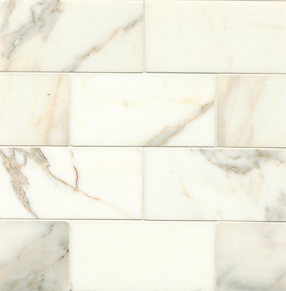 Calacatta oro white marble tile mrbcaloro0306h bedrosians calacatta gold marble honed or polished subway brick field tile dailygadgetfo Images