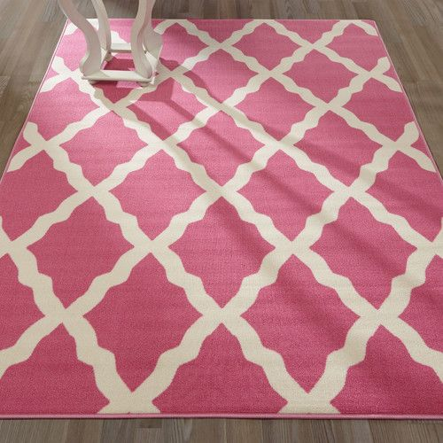 Found It At Wayfair Glamour Machine Woven Hot Pink Area Rug