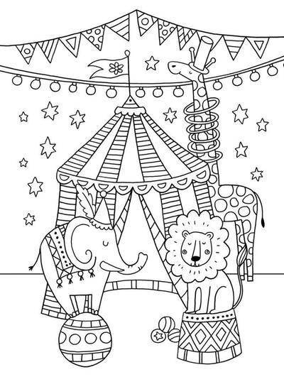 malvorlagen zirkus zirkuszelt  best style news and