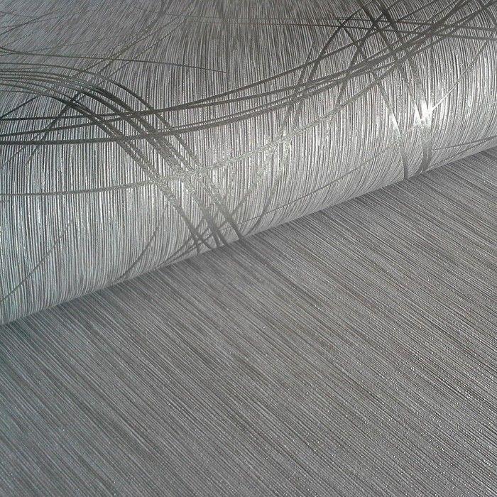 Tapete weiß silber gestreift  Streifen Tapete EDEM 1020-10 Designer Tapete Struktur Metallic ...