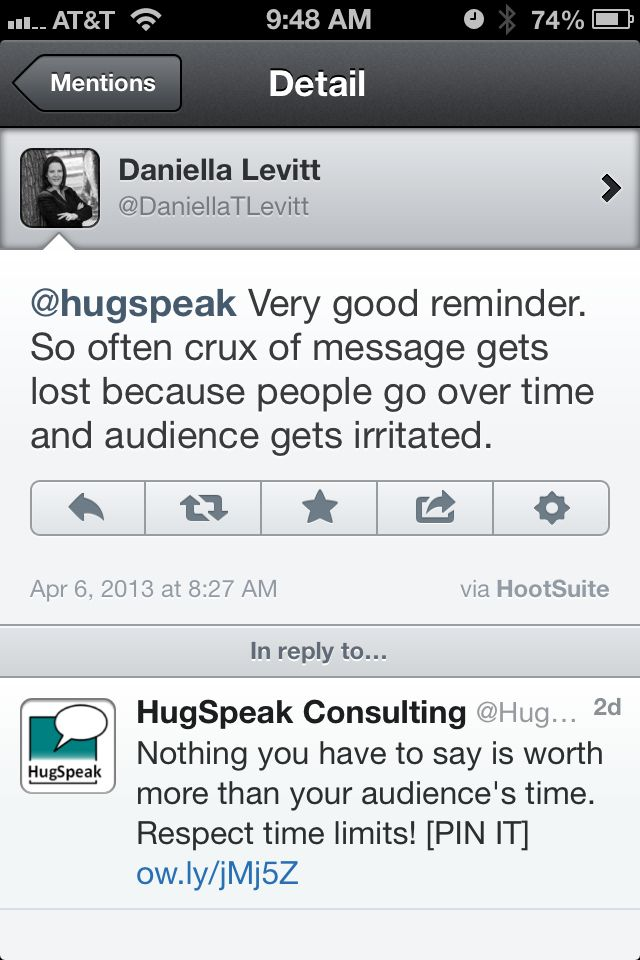 Respect time limits when giving a presentation! Your audience will