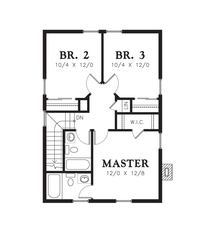 Mascord House Plan 21118a Small Master Bath And Master