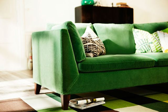 "Green Velvet Couch - Yumm! - Mood Board Monday - IKEA for your living room, without looking too ""IKEA"" @Why All The Fuss"
