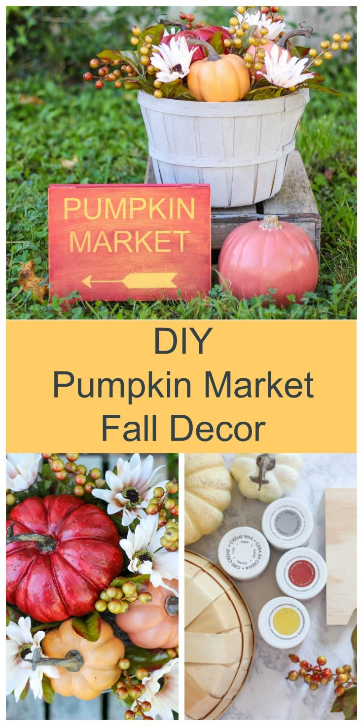 DIY Pumpkin Market Fall Decor