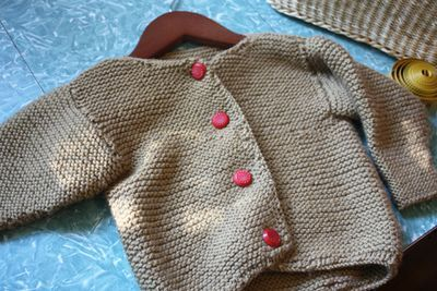 24a3a16f3 Absolutely Basic Baby Sweater - Free Knitting Pattern
