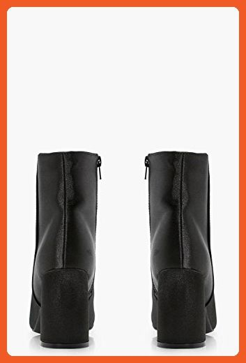 e4714badcfd0f Boohoo Womens Tanya Satin Sock Boots in Black size 8 - Boots for ...