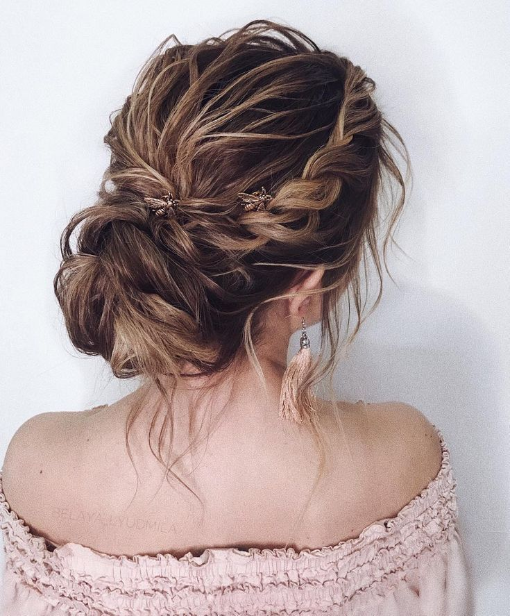 20 Inspiration Low Bun Hairstyles For Wedding 2019 2020: 35 Gorgeous Updo Wedding Hairstyle Inspiration , Braids