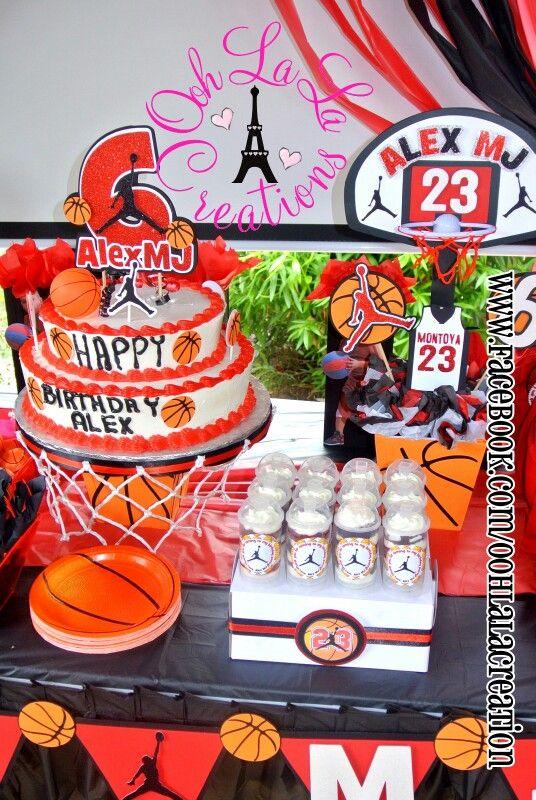 Basketball party decor jordan basketball party for Basketball craft party ideas