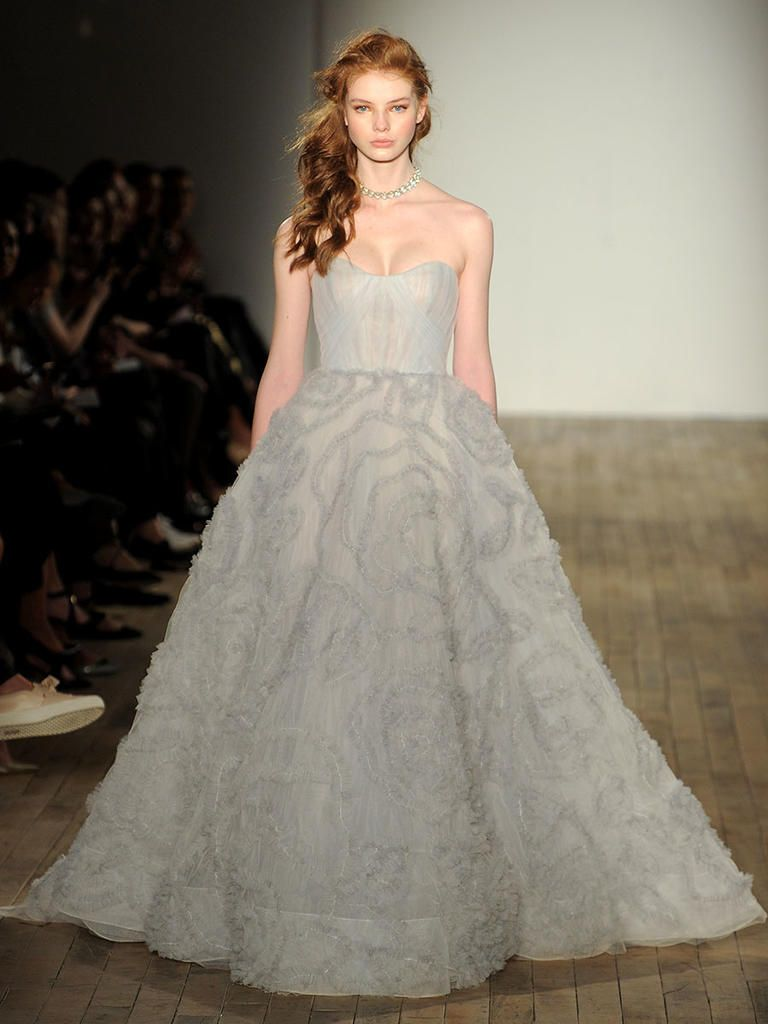 Jim hjelm fall romantic floral and lace wedding dresses