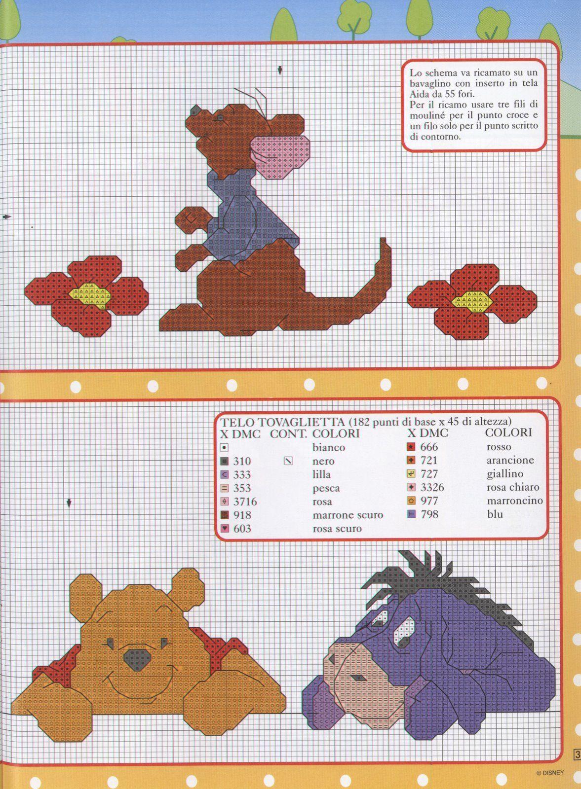 Roo, Pooh & Eeyore | Patronen - Punto de cruz, Punto de cruz bebe en ...