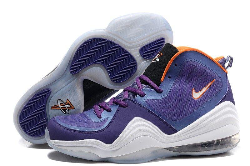 Nike Air Penny 5 Violet/White/Orange Basketball shoes
