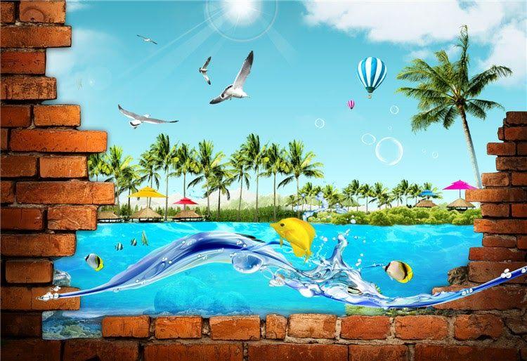 12 Gambar 3 Dimensi Pemandangan Contoh Lukisan Pemandangan Dasar Laut Cikimm Com Download 5o Lukisan Dan Gambar Pemandangan A Di 2020 Painting Pemandangan Gambar