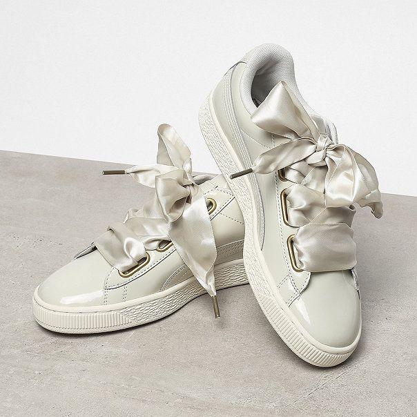 Basket Heart Glitter, Sneakers Basses Femme, Blanc (White-Gold), 39 EUPuma