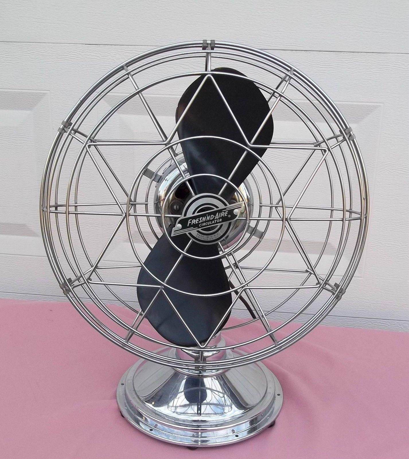 Vintage Fresh Nd Aire 3 Speed Chrome Fan Model 14 Industrial Mid Century Antique Fans Vintage Fans Fan