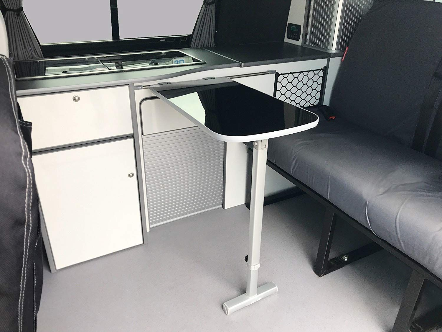 Bundle table top 65 x 35cm with height adjustable leg