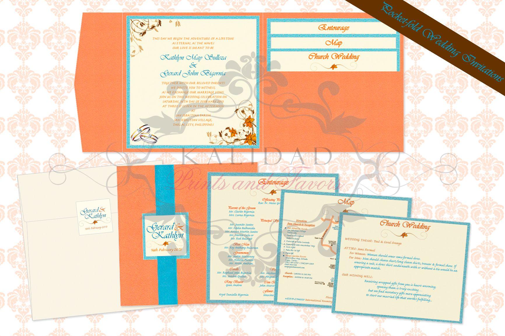 Pocket-fold Wedding Invitation| Kalidad Prints and Favors ...