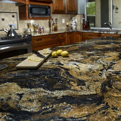 The Granite Gurus Slab Sunday Magma Gold Granite Granite Countertops Kitchen Granite Kitchen Replacing Kitchen Countertops