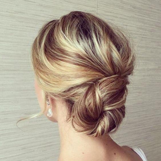 So Elegant Hair Updo Twisted Low Bun Hair Pinterest