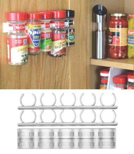 You Can Use A Mop Holder Or Buy This Cheap Rack For Under 10 Amazon What A Cool Space Saver Organizer Rack Spice Organization Cabinet Doors Spice Storage