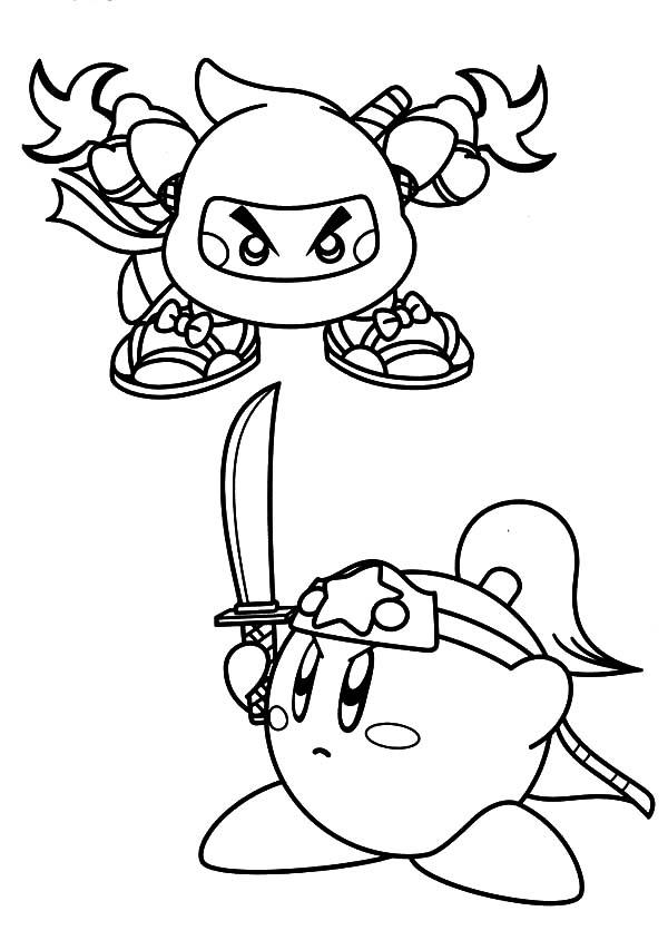 Kirby Versus Ninja Coloring Pages Kids Play Color In 2020 Coloring Pages Coloring Books Kirby