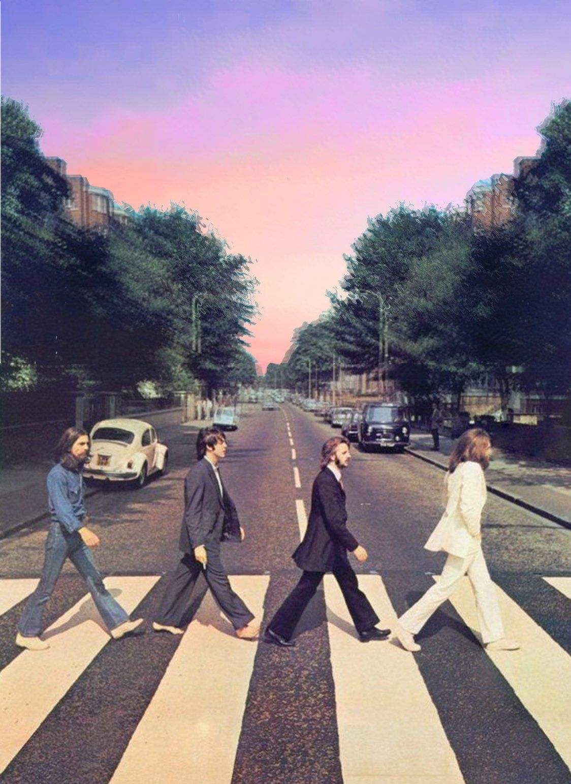 The Beatles Abbey Road Art Print Poster Beatles Wallpaper Beatles Poster Picture Collage Wall