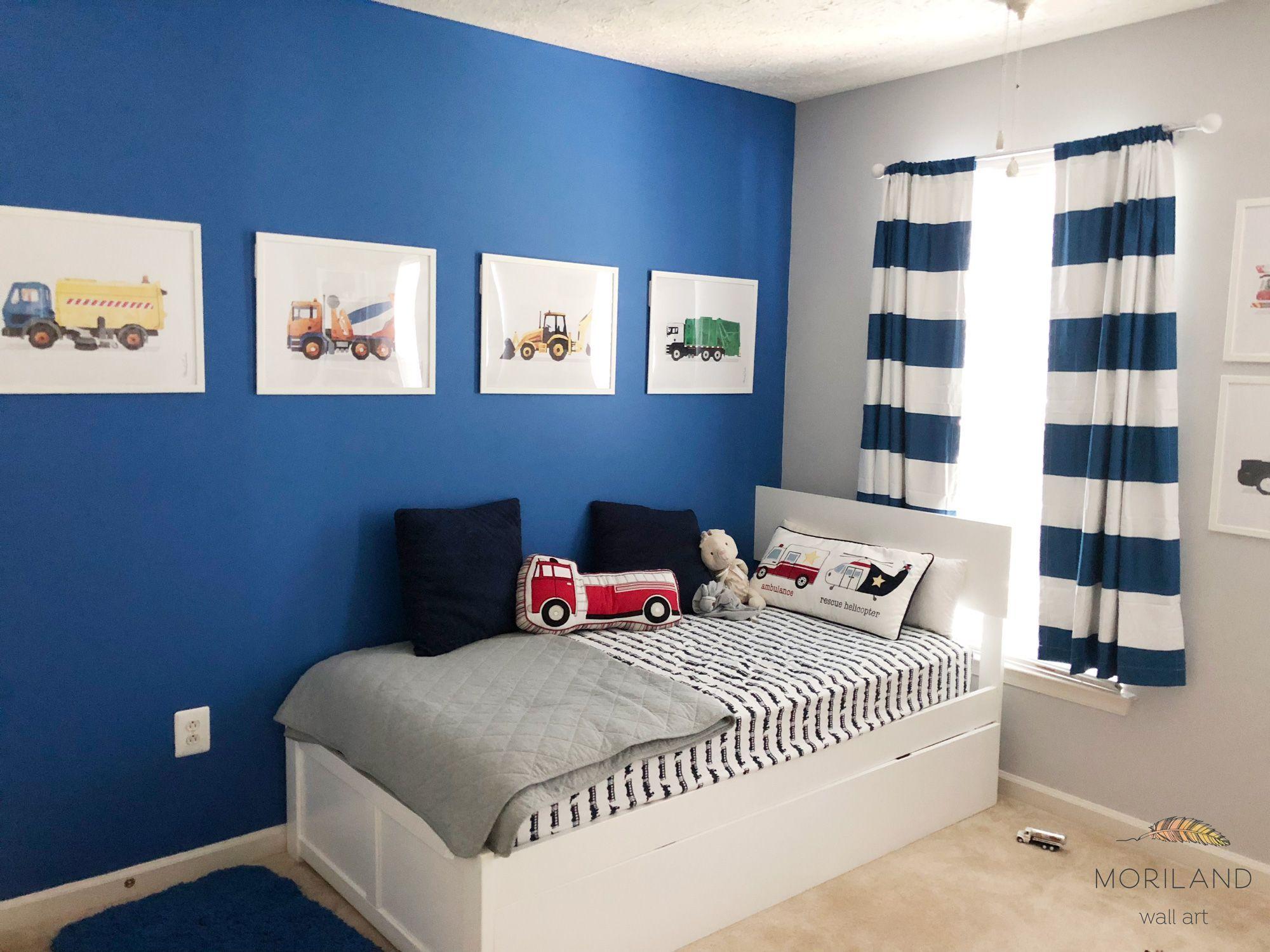 Garbage Truck Print, Transportation Wall Art, Toddler Boy Bedroom