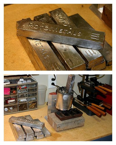 Cast Your Own Bullets Try Some Of This Hardball Lead Alloy It S Great Reloading Bench Reloading Ammo Reloading Room