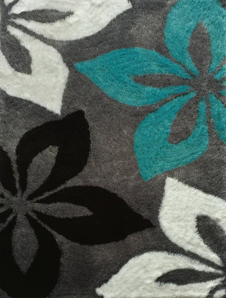 Modern Area Rug 5x7 Turquoise Gray Shag Area Rug Black And Grey Rugs Area Rugs