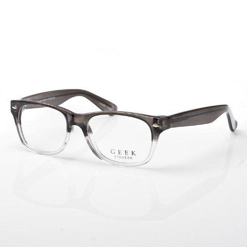 50906c31e8 Amazon.com  geek eyewear - wayfarer optical frame RAD09 (gray clear)  Shoes