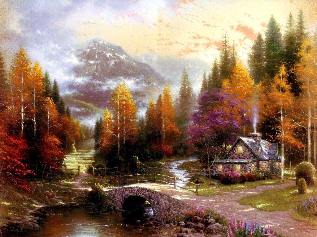 Lilac Cottage – Limited Edition Art | The Thomas Kinkade Company