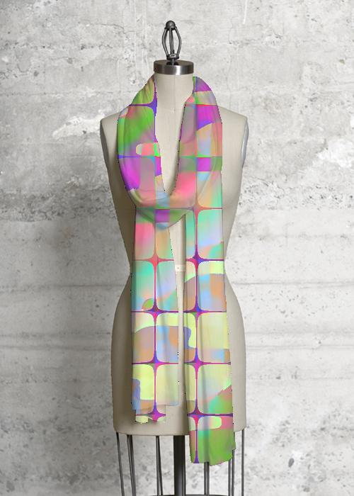 Cashmere Silk Scarf - Detroit Sunset by VIDA VIDA Q4KoHC