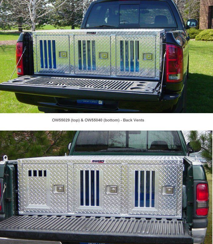 Owens Aluminum Dog Triple Boxes for Trucks Hunter Series