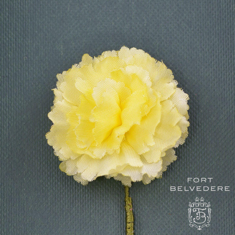 Yellow Carnation Silk Boutonniere Buttonhole Flower Fort Belvedere