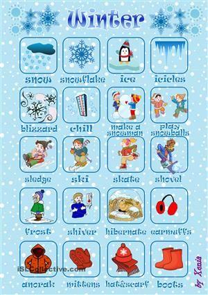 Winter Pictionary Winter Activities Pinterest