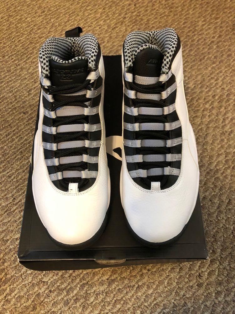 6025c24b24b Air Jordan Retro 10 10.5 Steel 310805-103 #fashion #clothing #shoes ...