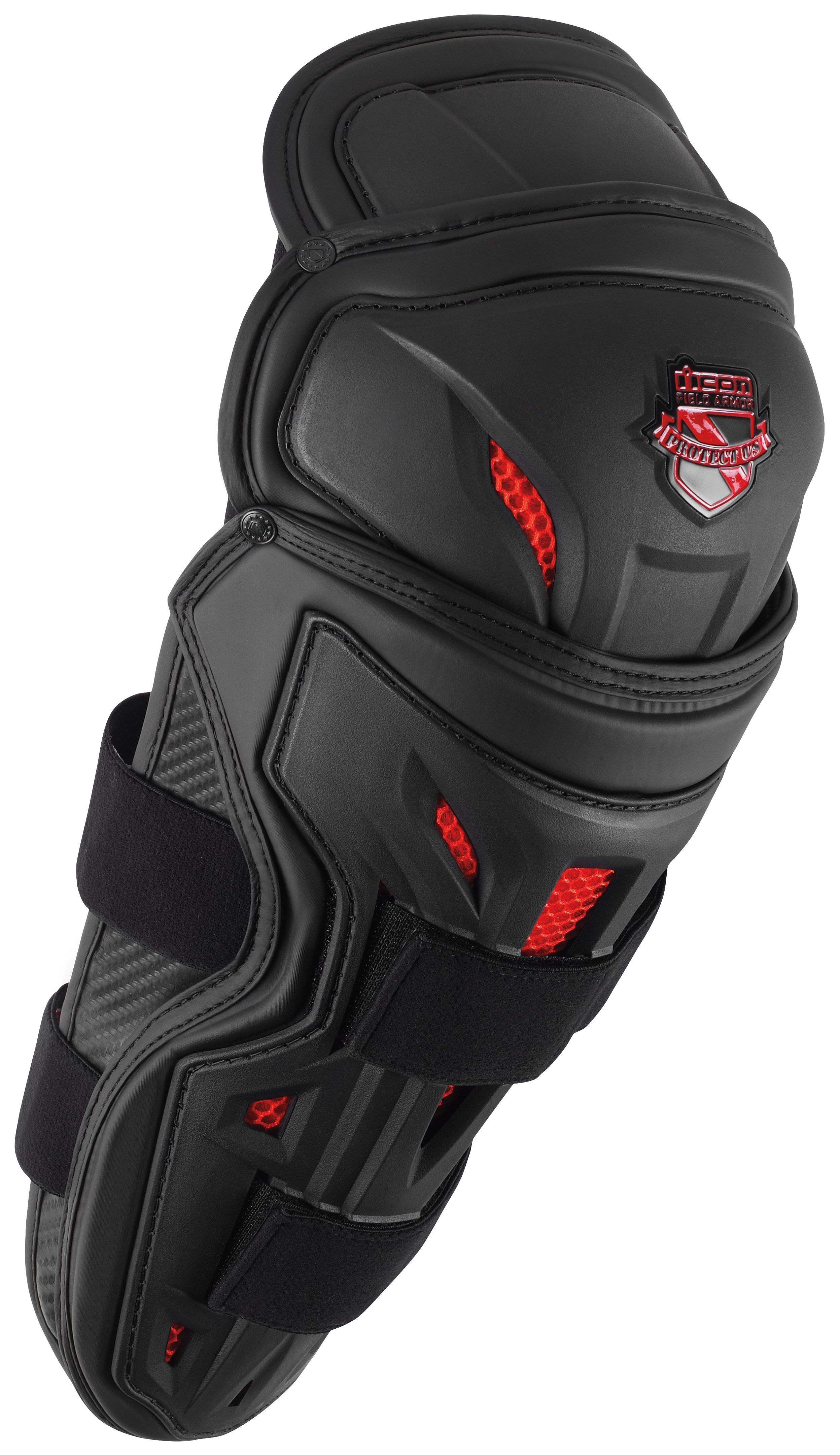 ICON Field Armor Stryker Motorcycle Knee//Shin Guards One Size Black