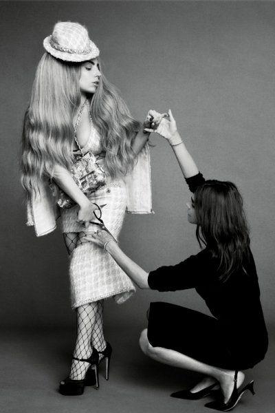 Lady Gaga, Penelope Cruz, and Linda Evangelista cover 'Harper Bazaar''s September issue. Styled by Carine Roitfeld.
