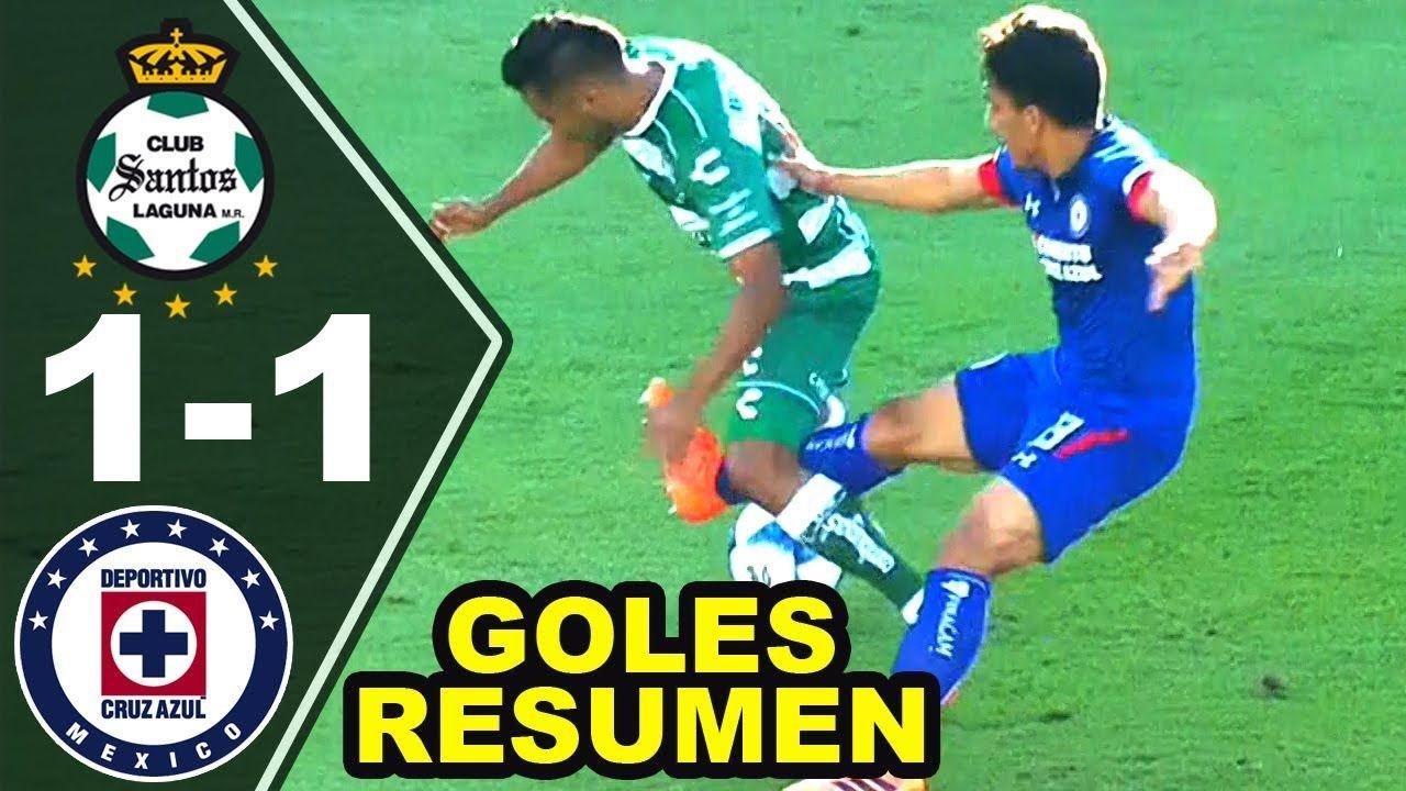 Santos Laguna vs Cruz Azul 11 Resumen Completo Jornada 7
